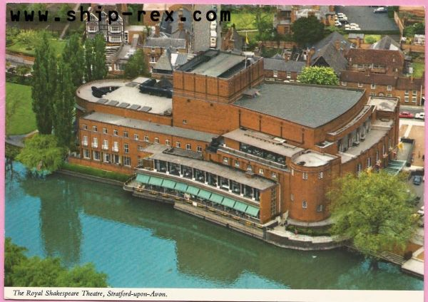 Stratford-upon-Avon, The Royal Shakespeare Theatre, postcard (a)